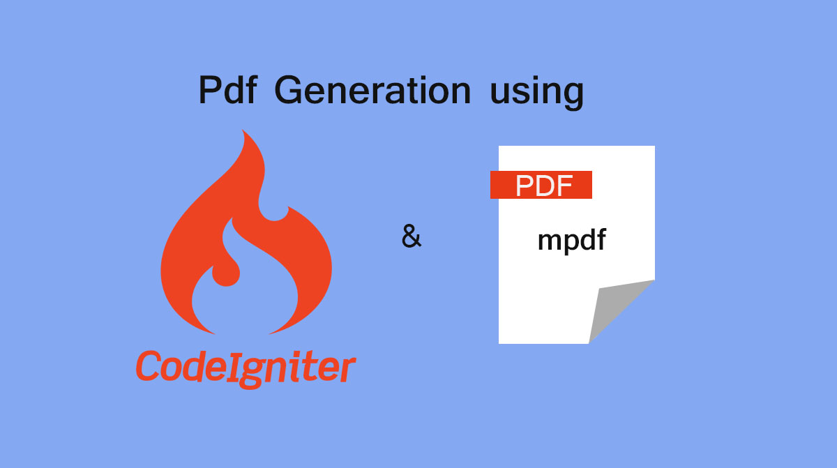 Pdf Generation in Codeigniter using mpdf library